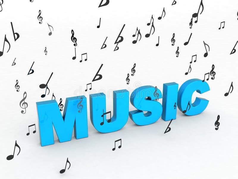musiktext vektor illustrationer