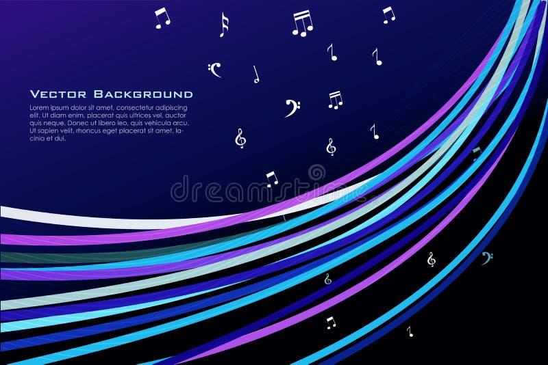 musiktexter stock illustrationer