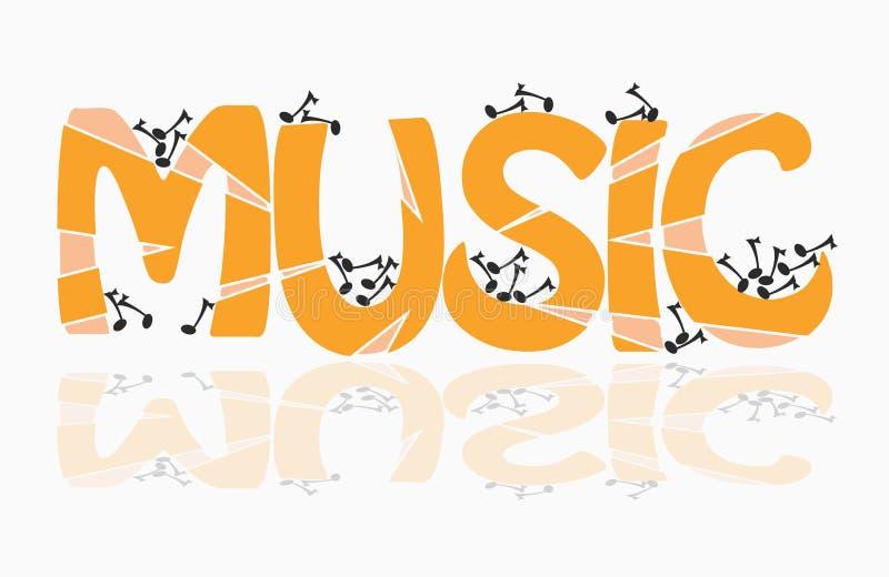 Musikthema stock abbildung