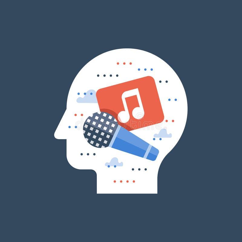 Musiktonstudio, Karaokeclub, Gesanglied, Musicalityentwicklung, Unterhaltungsshow, Sängerleistung vektor abbildung