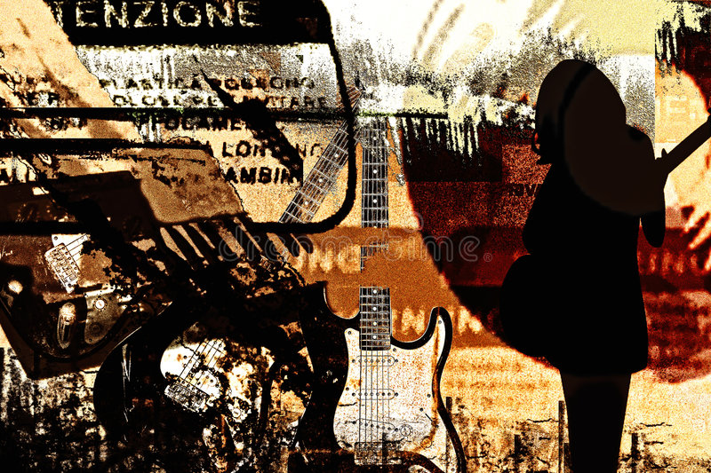 musiktown arkivfoto