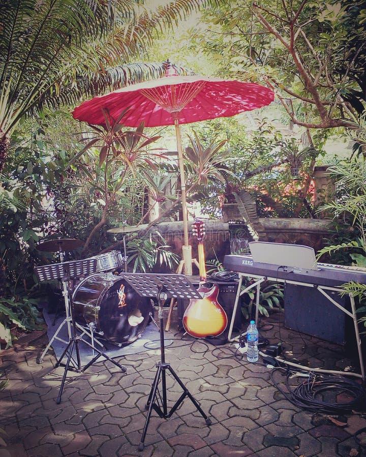 Musikträdgård royaltyfria foton