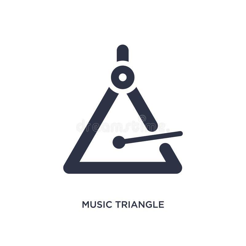 musiktriangelsymbol på vit bakgrund Enkel beståndsdelillustration från musikbegrepp vektor illustrationer
