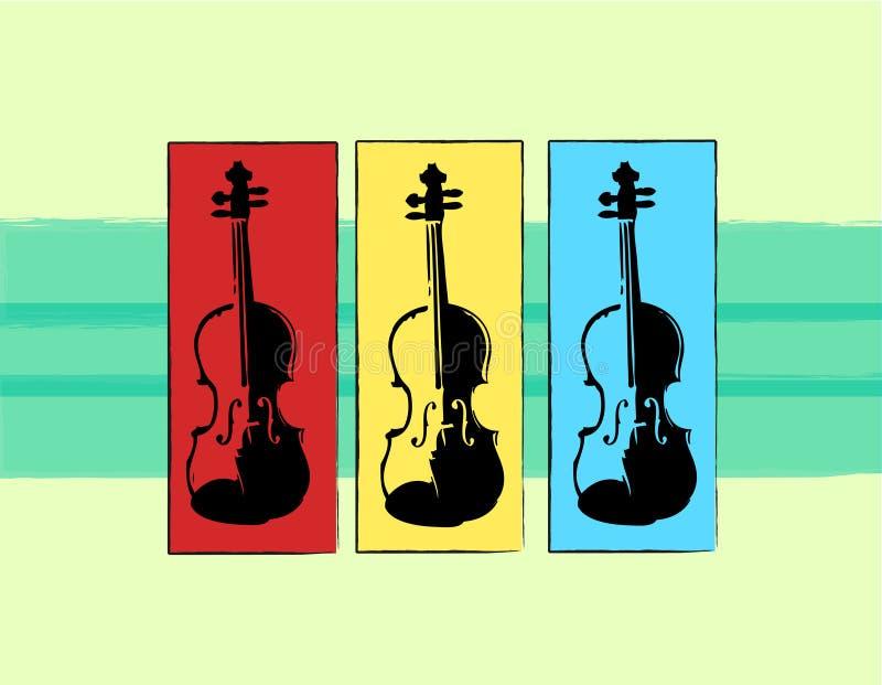 musiktrio royaltyfri illustrationer