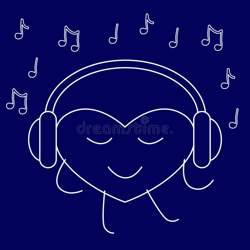Musikvän royaltyfri illustrationer