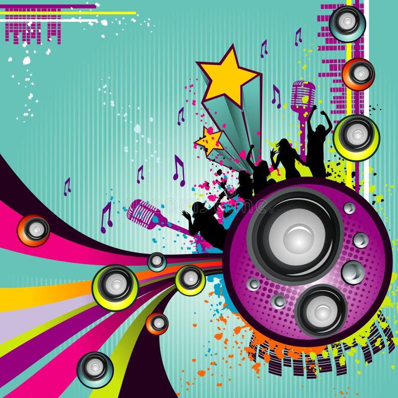 Musikvektoraufbau lizenzfreie abbildung