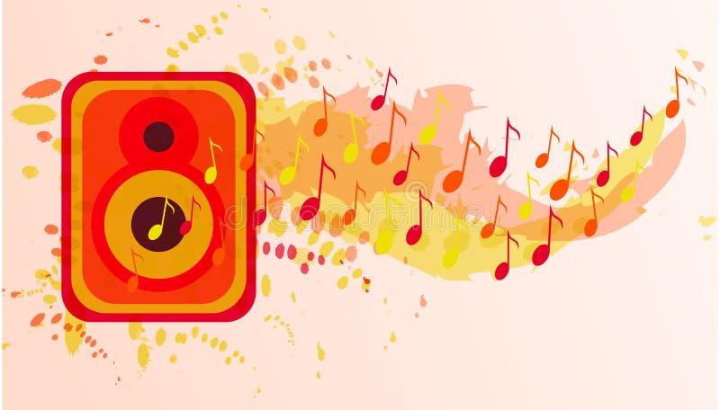 Musikvektorbakgrund Begrepp f?r v?rldsmusikdag royaltyfri illustrationer