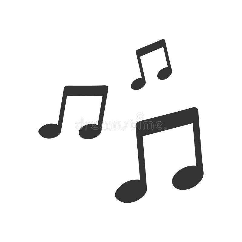 Musikvektorsymbol royaltyfri illustrationer