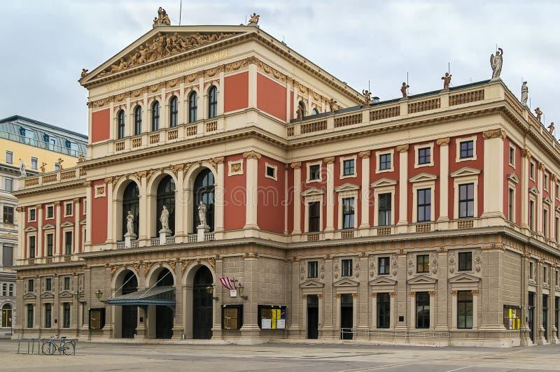 musikverein维也纳 免版税库存照片