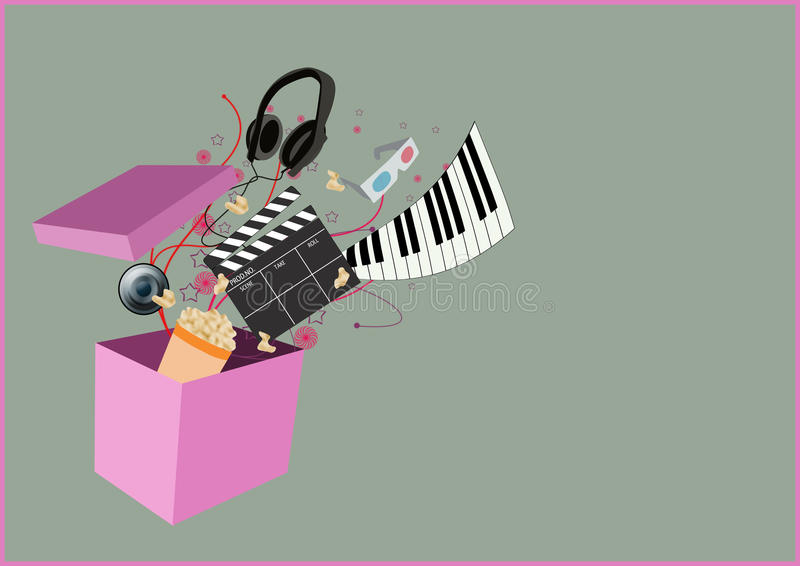 Musikvideohintergrund stock abbildung