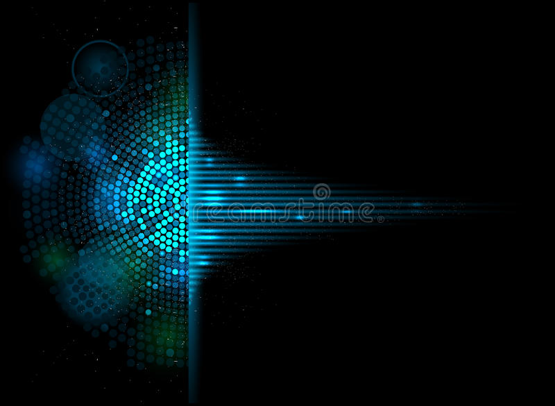 Musikvolumenentzerrer-Computertechnologie-Konzeptgeschäfts-BAC vektor abbildung