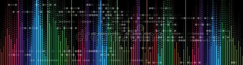 Musikvolumenentzerrer-Computertechnologiekonzept lizenzfreie abbildung