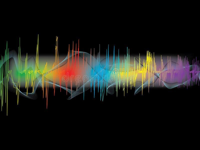 Musikwellen stock abbildung