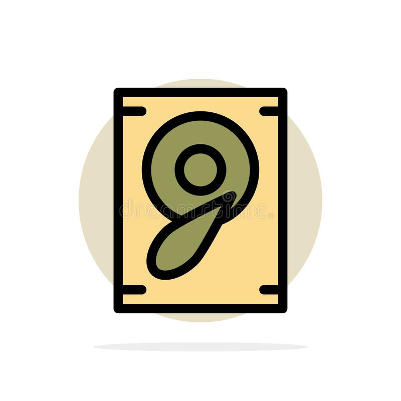 Musique, bruit, icône plate de couleur de fond de cercle d'abrégé sur haut-parleur illustration libre de droits
