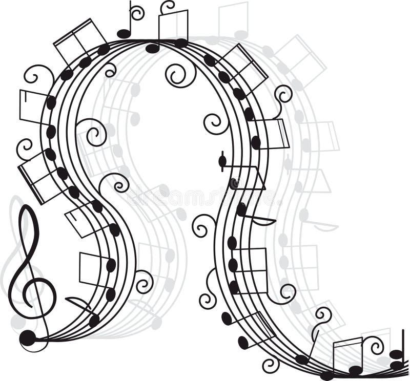 Musique. Clef triple et notes pour votre conception. illustration stock