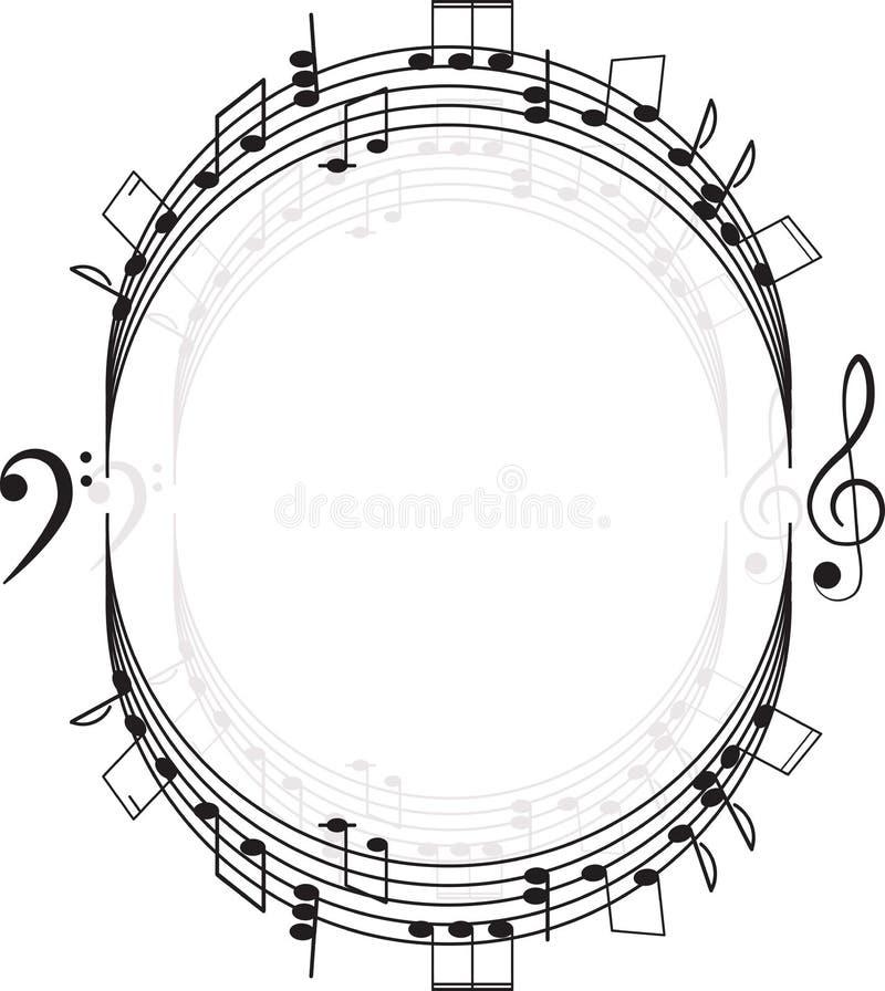 Musique. Clef triple et notes pour votre conception illustration libre de droits