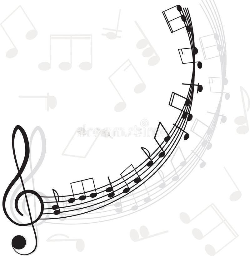 Musique. Clef triple et notes pour votre conception illustration stock