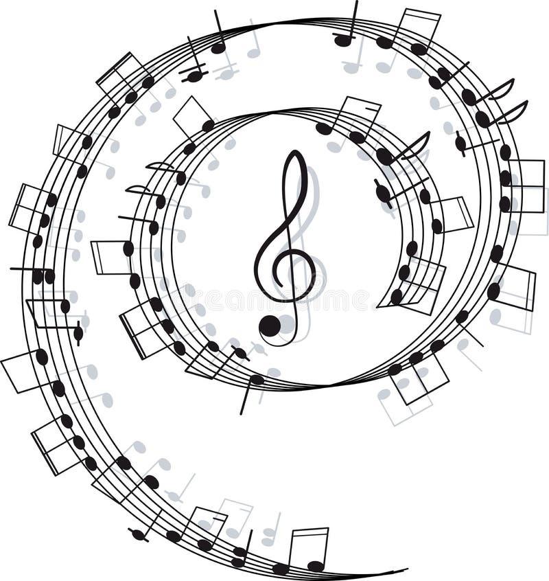 Musique. Clef triple et notes pour votre conception illustration de vecteur