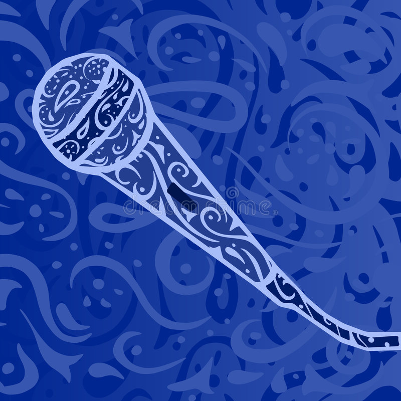 Musique country - microphone illustration stock