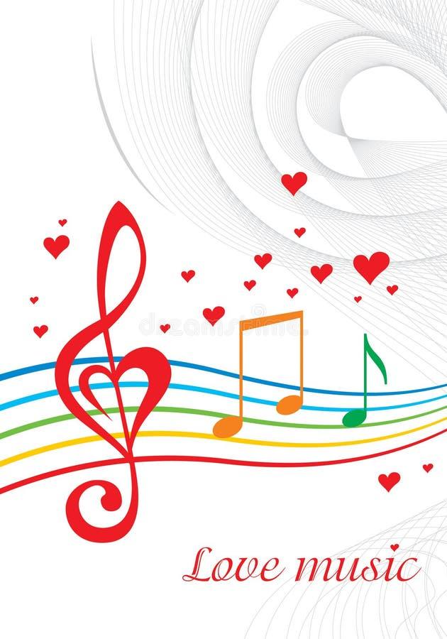 Musique d'amour illustration libre de droits