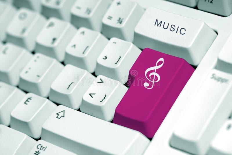 Musique d'ordinateur photo libre de droits