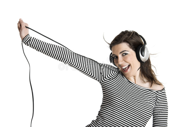 Musique de écoute image stock