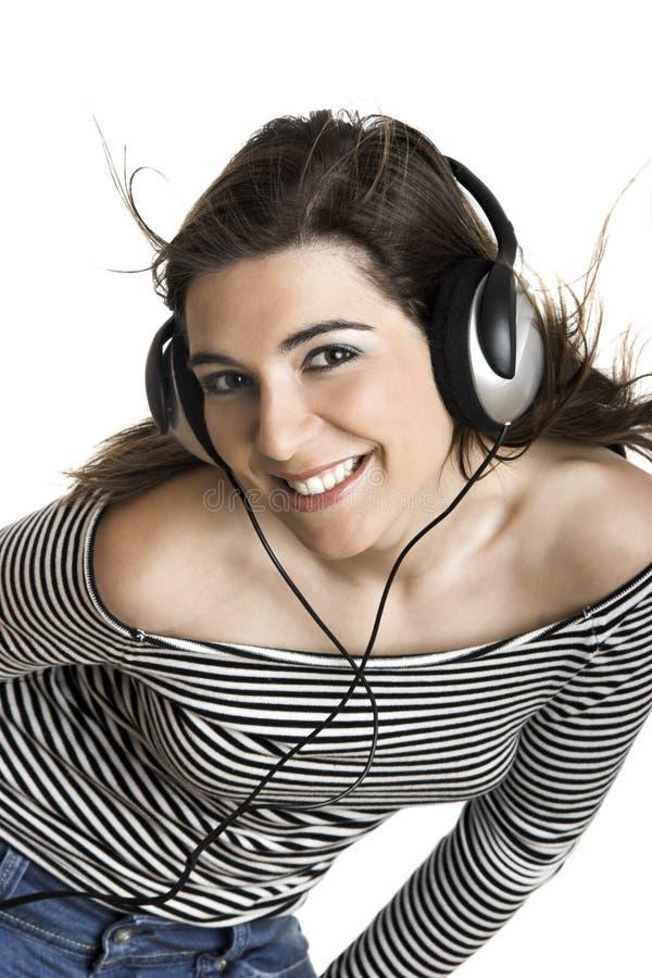Musique de écoute photographie stock