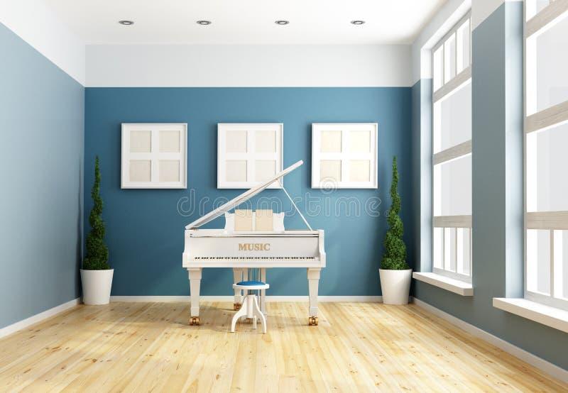 Musique de chambre bleue illustration stock