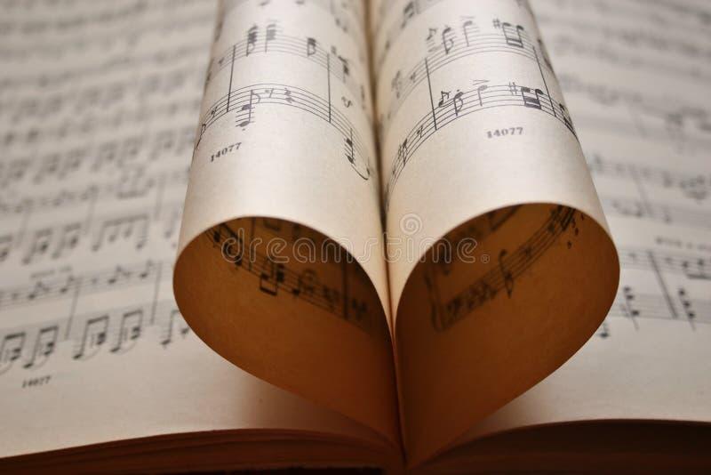 Musique de coeur photographie stock
