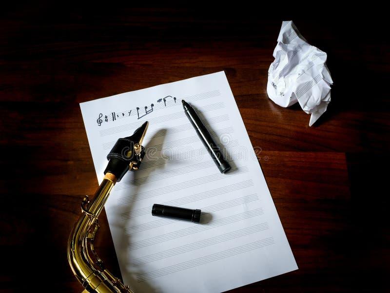 Musique de composition images libres de droits