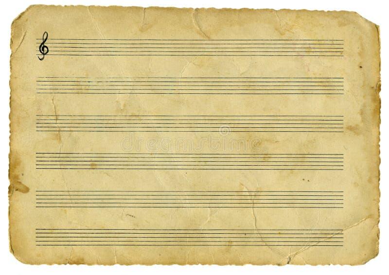 Musique de cru photo libre de droits