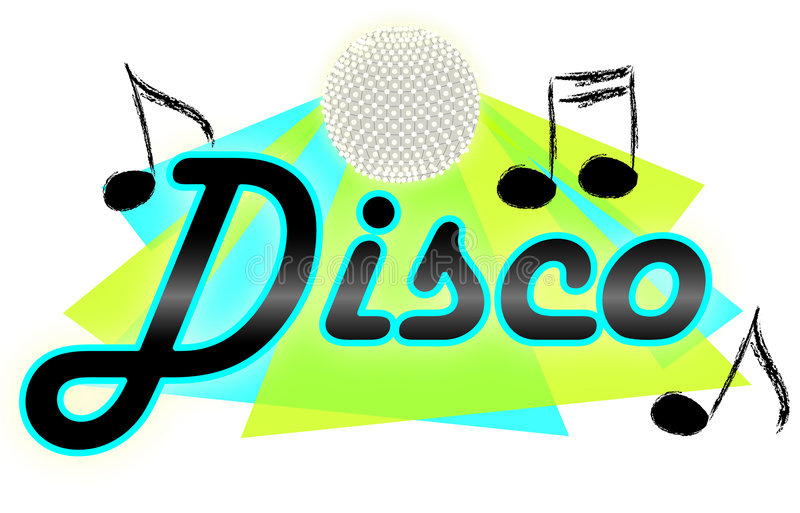 Musique de disco/ENV illustration stock
