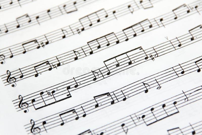Download Musique de feuille image stock. Image du mélodies, noir - 28660317