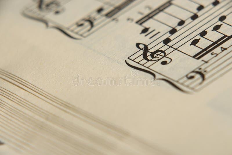 Musique de feuille 5 image stock