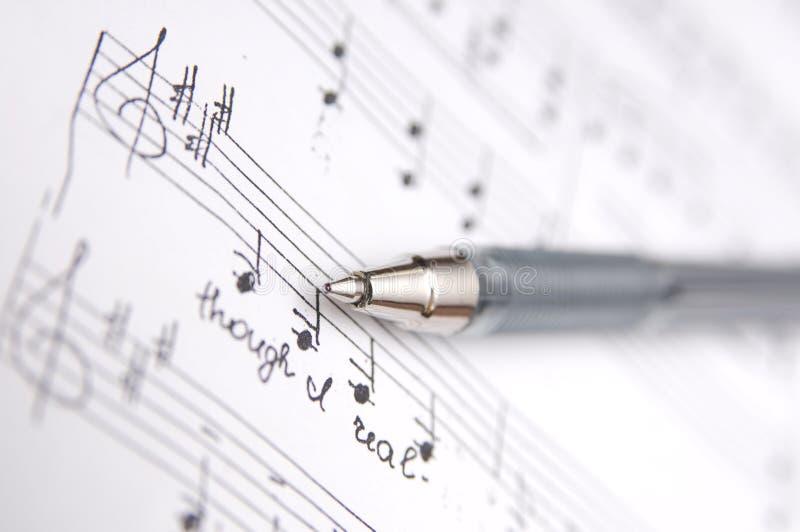 Musique de feuille photo libre de droits