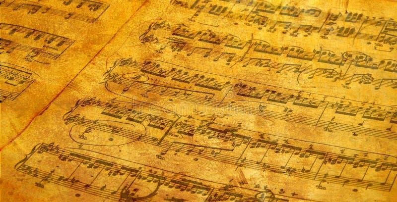 Musique de feuille Antiqued photos stock