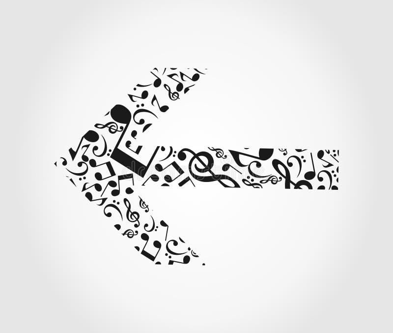 Musique de flèche illustration libre de droits