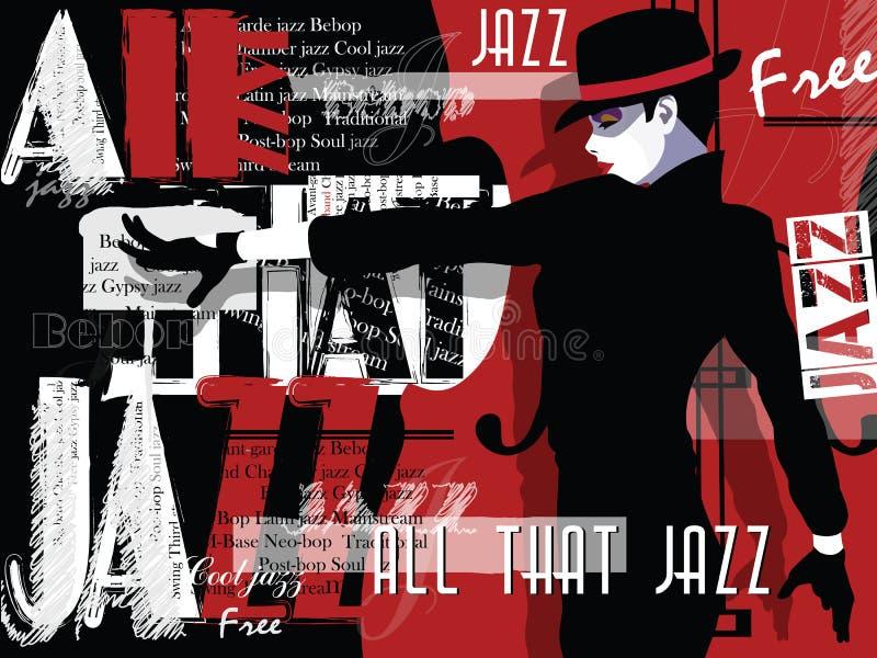Musique de jazz, calibre de fond d'affiche illustration de vecteur