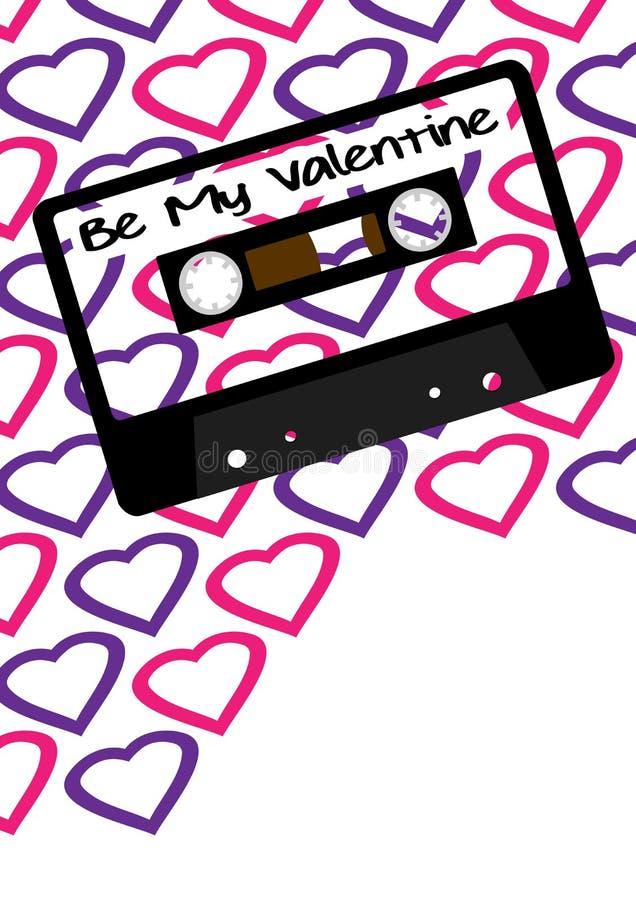 Musique de jour de rue Valentine illustration de vecteur