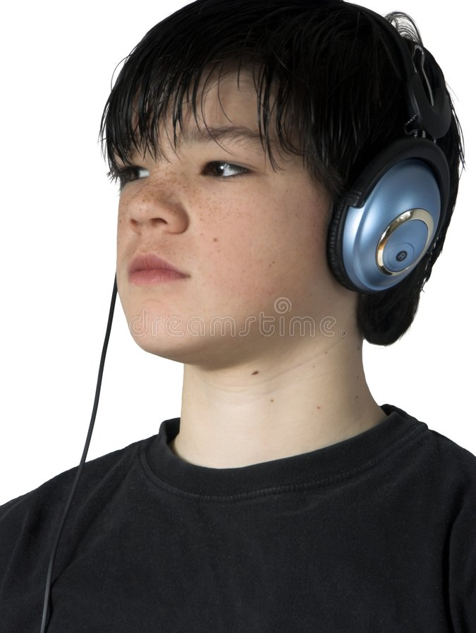Musique de l'adolescence photos stock