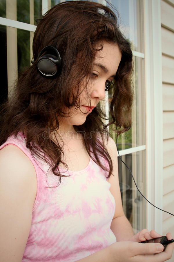 Musique De L Adolescence Mp3 Triste Images stock