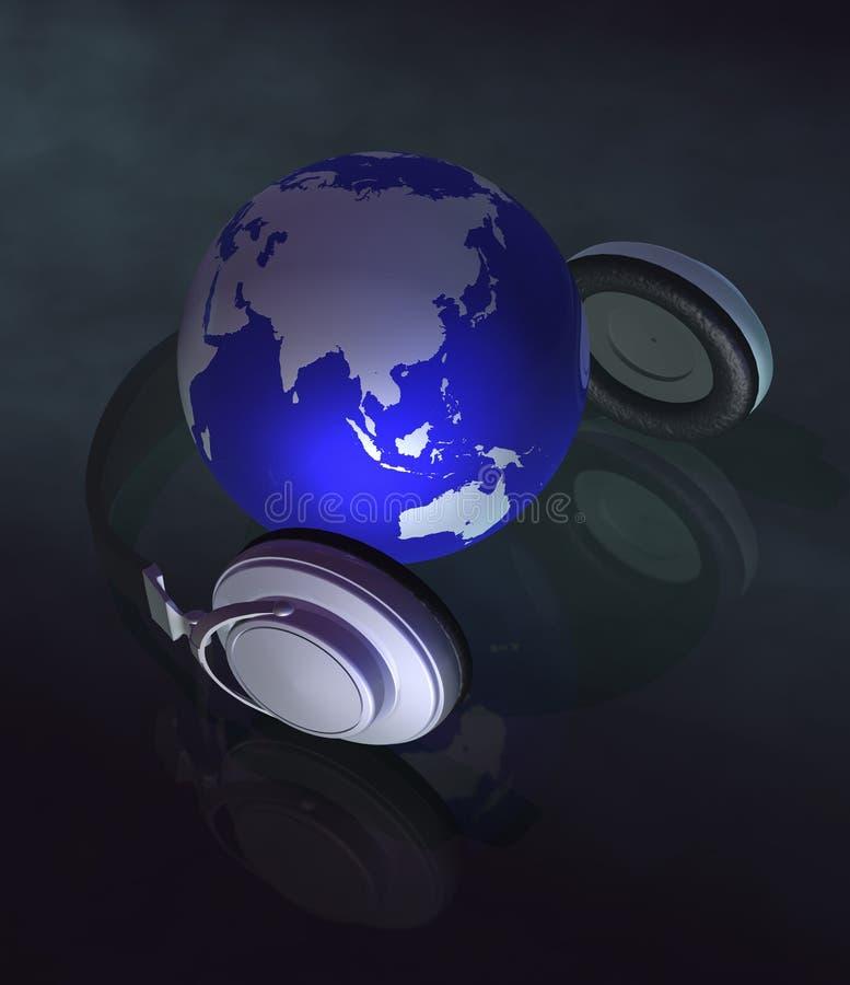 musique de la terre du concept 3d illustration libre de droits