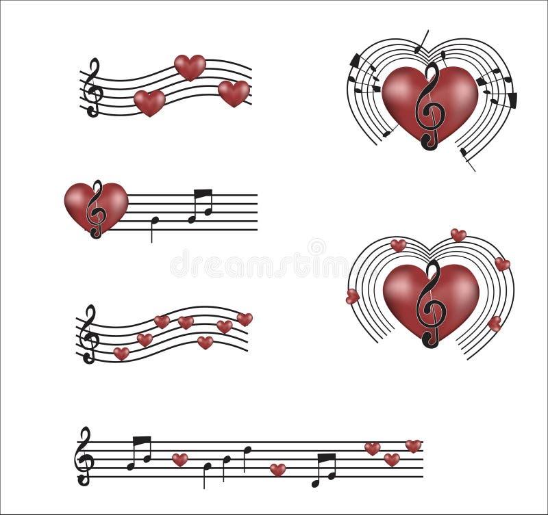 Musique de mon coeur illustration stock