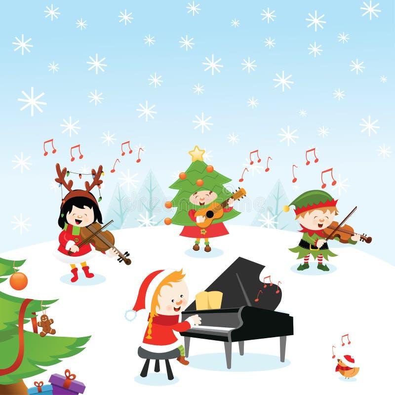 Musique de Noël illustration de vecteur