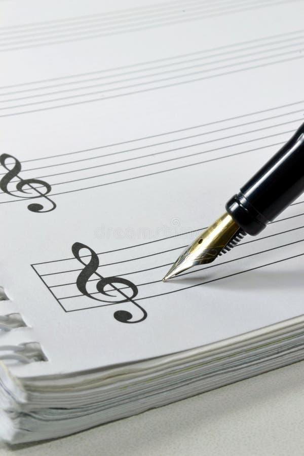 Musique de page blanche image stock