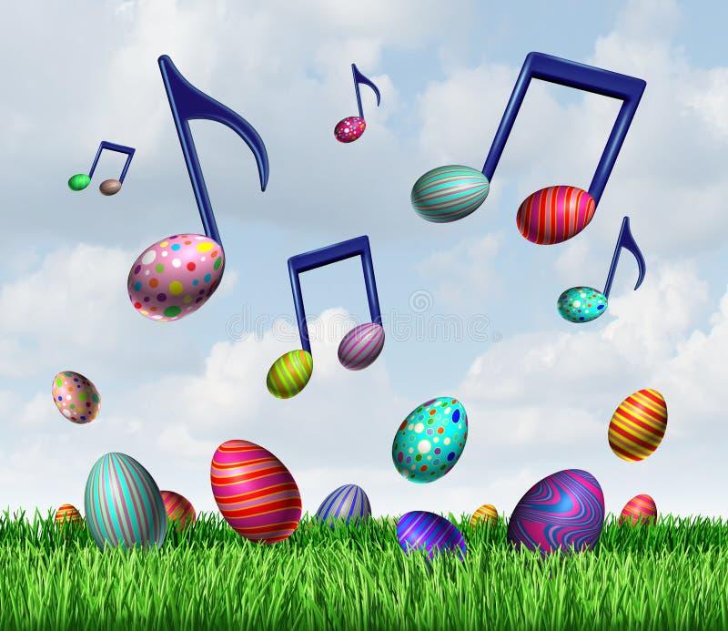 Musique de ressort de Pâques illustration stock