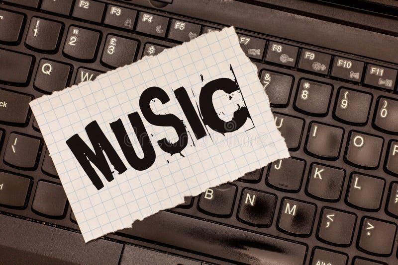Musique des textes d'écriture de Word Concept d'affaires pour les bruits vocaux ou instrumentaux d'une telle manière de produire  images stock