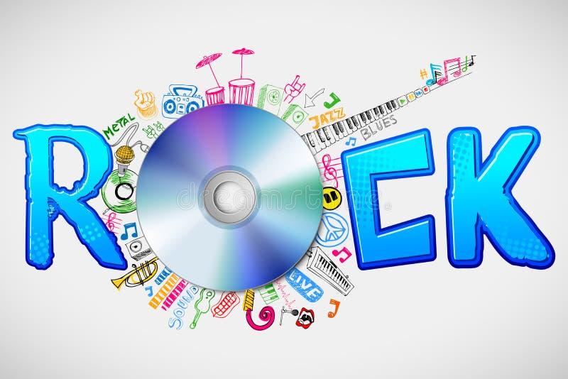 Musique Doddle autour de CD illustration de vecteur