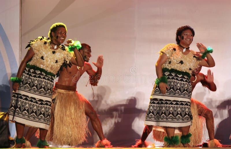 Musique et danse du Fiji photo libre de droits