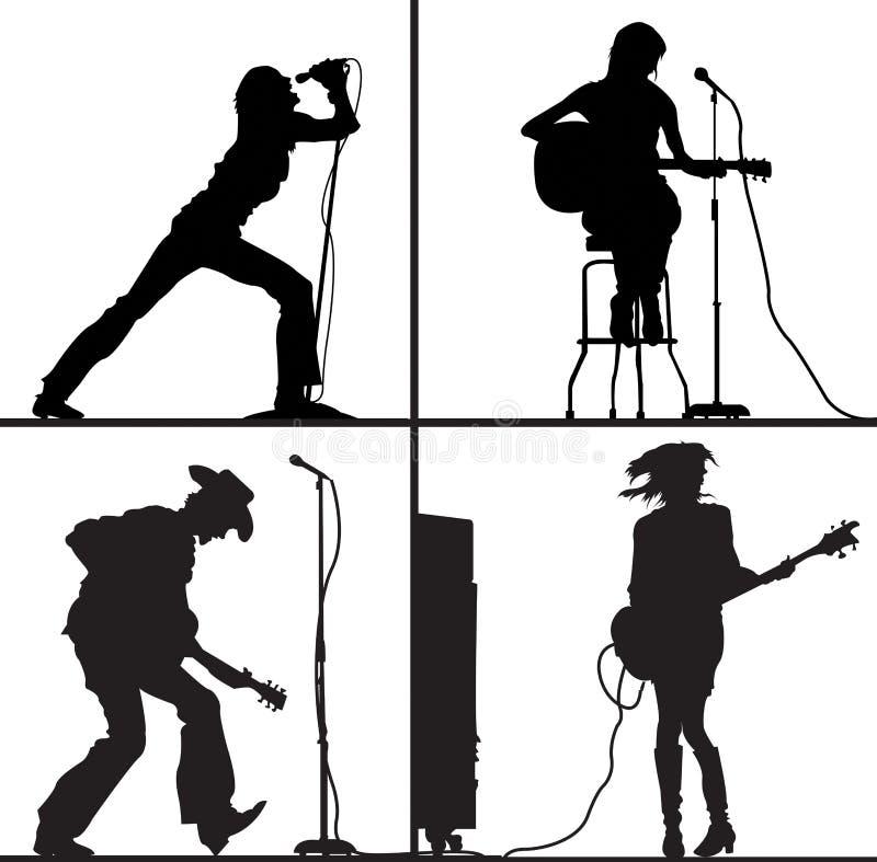 Musique faite au hasard illustration libre de droits